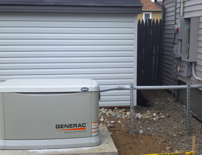 Generac Generator Installation Photos - mount arlington nj